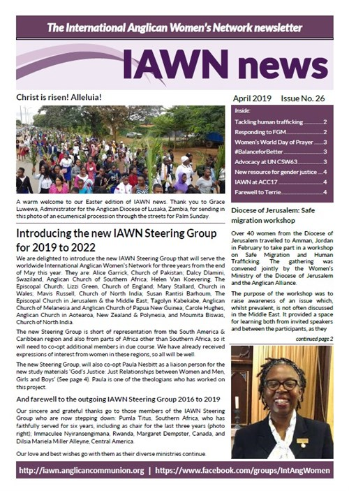 IAWN Newsletter - April 2019 graphic